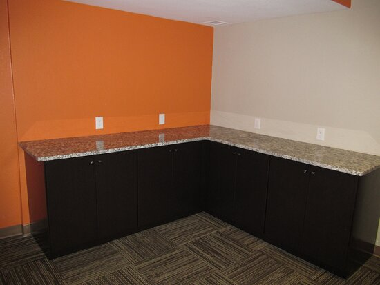 Meeting Room comes equipped with Refrigerator, Microwave and Counter Space.