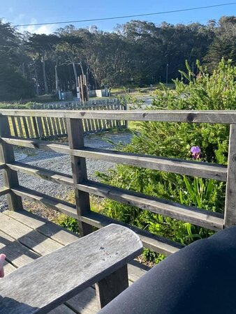 Samoa, CA: Sitting in the Adirondack chair on the private porch of Suite 6