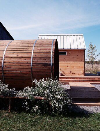 Sauna and relaxation room