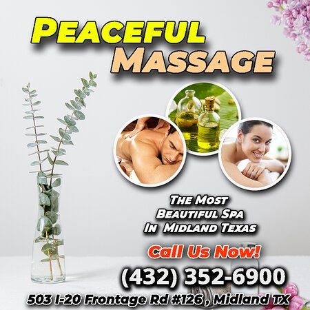 Peaceful Massage is an Asian massage spa designed to help you reduce stress, relieve build up chronic pain, and increase the overall quality of your life! We specialize in multiple affordable, customized treatments to meet the needs of a wide variety of clients in a peaceful setting! We are proud to be providing Authentic Asian Massage therapy services in our beloved community of Midland, TX!