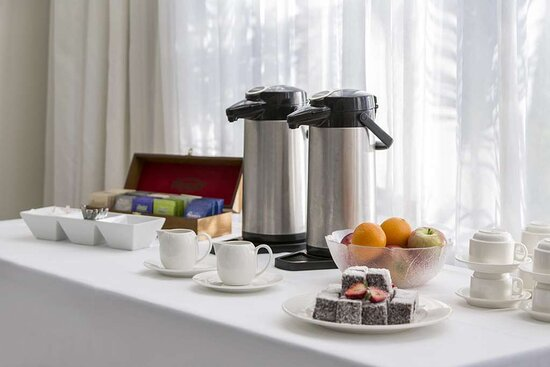 Details of coffee and tea station in the Oasis Room meeting room