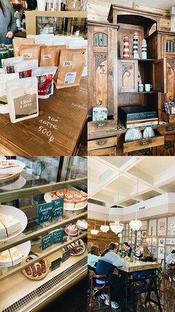 Большой ассортимент сувенирной продукции из керамики ручной работы, кофе, какао, чай латте в упаковках для приготовления дома