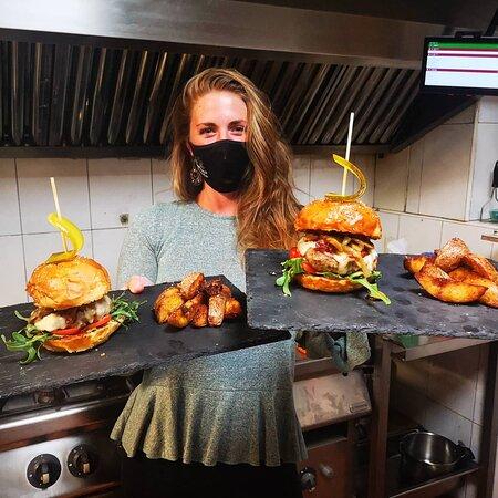 hamburguesas de 100% ternera caseras
