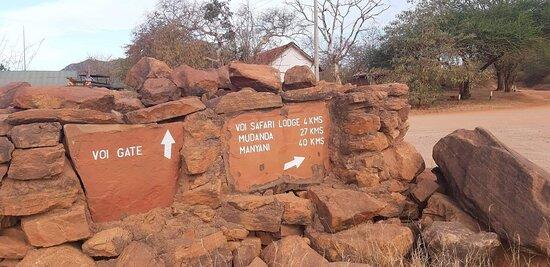 Coast Province, Kenya: Brama wjazdowa do parku