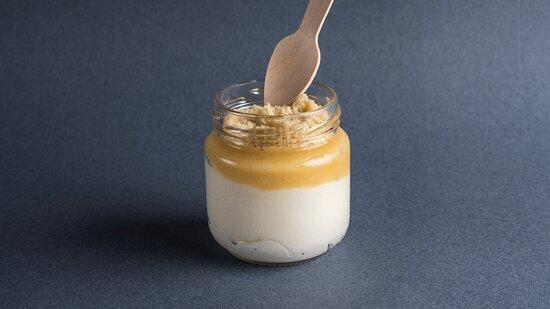 Cheesecake limon - Cheesecake con crema de limón y crumble casero