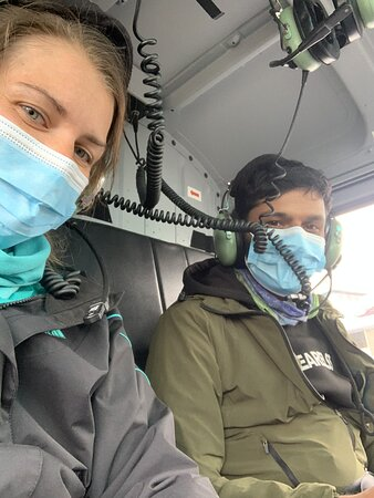 13-Day Guided Trekking Tour to the Everest Base Camp: Ananta and myself during a heli rescue