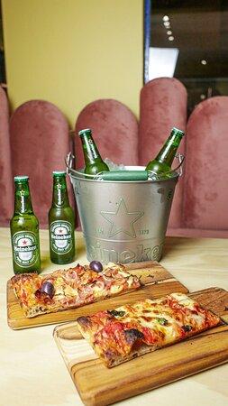 Combo pizza romana + Heineken
