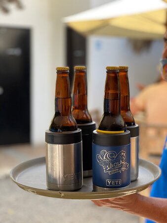 Cold until the last sip!! All beers served with Yetis!! So you enjoy that cold taste till the end!!