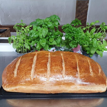 Fresh bread from our wood-fired oven
