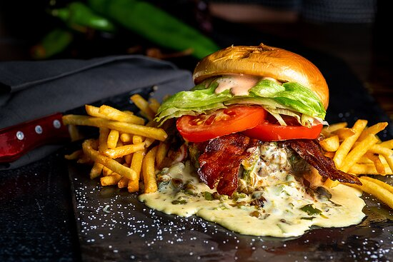 Green Chile Burger - Amazing!