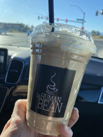 Low Carb Granita - espresso, ice, cream, and vanilla protein powder.