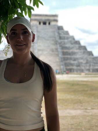 Bird Watching Tour in the Amazili Nature Reserve and Cenote Kax Ek: This is my daughter--Ichi included a stop at the fabulous Chichen Itza ruins.