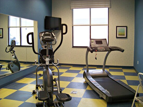 24 hour fitness room to keep you energized and fit.