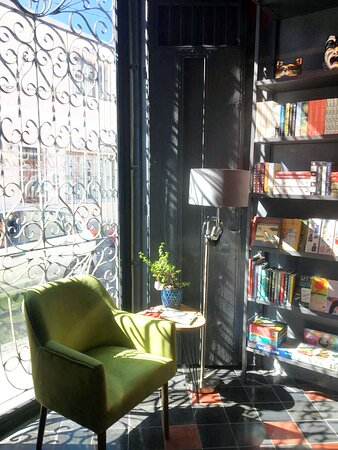 Reading corner at Between the Lines