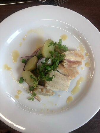 Trout & potato salad starter