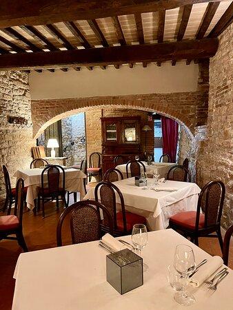Inside interior of Locanda San Michele restaurant