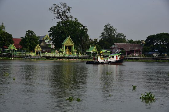 Temple across the river