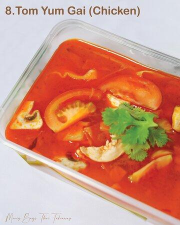 Chicken soup with lemongrass, mushroom & chilli