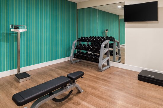Workout in our Fitness Center with a plethora of equipment.
