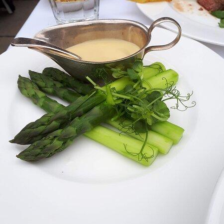 Asparagus currently in season.  Big spears!