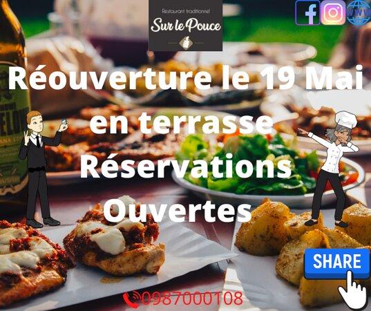 restaurant_sur_le_pouce 😁😁😁👉👉👉ENFIN!   Après de longs mois de fermeture!