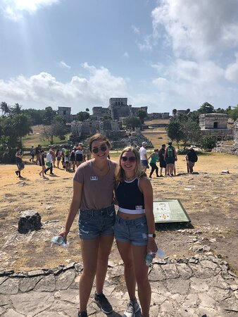 The ancient ruins were amazing to see and we learned a lot about the mayan culture. It was so cool to see the remnants of the mayan city.