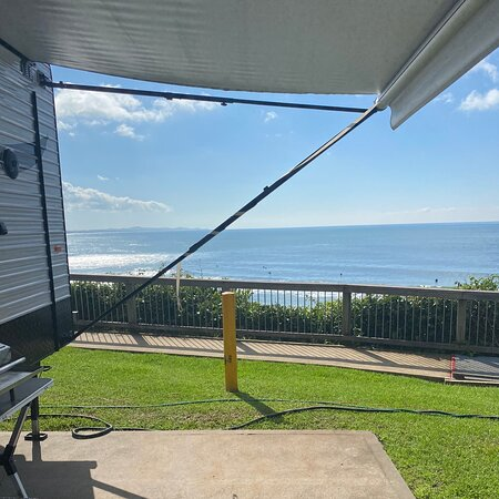 Bonny Hills, Úc: Perfect views along Rainbow beach all the way to Port Macquarie lighthouse.