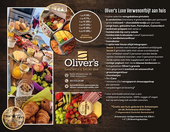 Oliver's Deluxe Breakfast delivered at your home on sundays (and most official bank holidays)