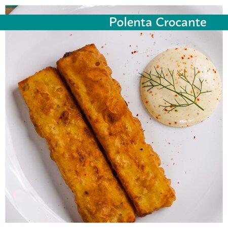 Entrada - Polenta frita servida com Aioli de mostarda marrom e páprica defumada (4 unidades)