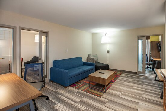 Different view of the living space of the suite