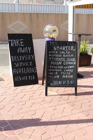 TAKE-AWAY SERVICE AVAILABLE