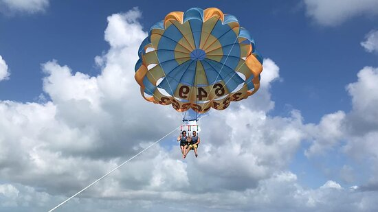 Key to the Sea Parasailing- Birds Eye View of the Best Beach in the world: Up & away!