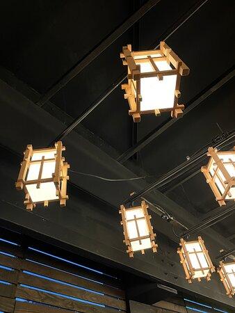 Beautiful lanterns ... part of the ambiance.