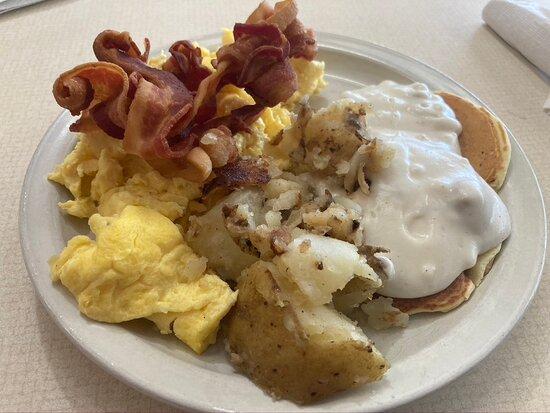 Eden, NC: A little bit of everything on the breakfast buffet.