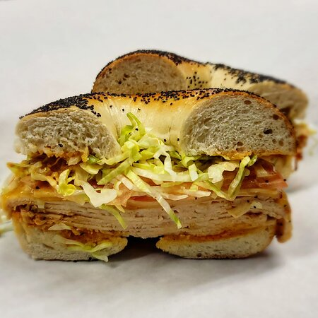 Franklin Square, NY: Bagel sandwich