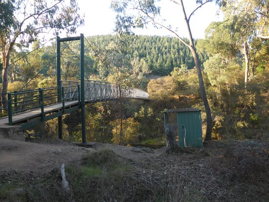 Swing bridge across to the other side.