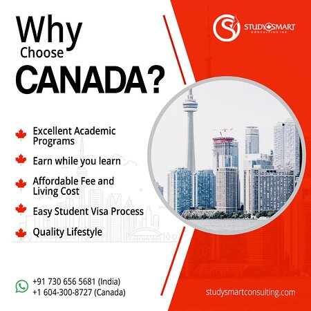 Studysmart Consulting Is The  Best Study Abroad Overseas Education Consultants In Kerala .We Have Successfully Placed Many Students In Top Colleges In Canada .Best Study Abroad Consultants In Kerala  Provides Trusted Services To Study In Canada For Kerala Students.Our Ultimate Goal Is To Provide You The Best Colleges With Right Courses,Admission And Students Visa Process And Now We Are The Best Canada Visa Consultants In Kochi,Kerala  Do Visit Website:https://studysmartconsulting.com/