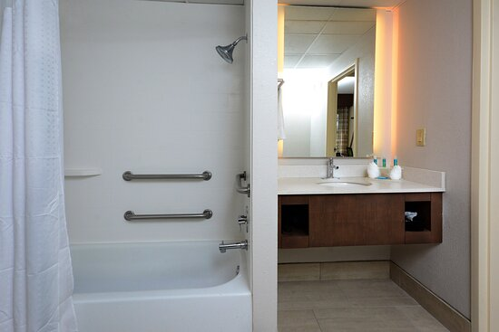 Enjoy our accessible bathrooms with safety features.