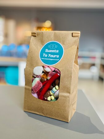 Our lucky dip grab bag by Sweets To Yours. Order online at www.sweetstoyours.co.uk or pop into our shop open Wed, Thur pm and all day Friday