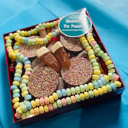 Pic n mix box going out to be delivered by Sweets To Yours. Order online at www.sweetstoyours.co.uk or pop into our shop open Wed, Thur pm and all day Friday
