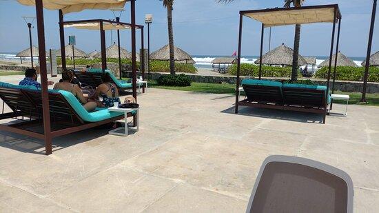 Club de playa SCALA, el camioncito del hotel te lleva y te trae