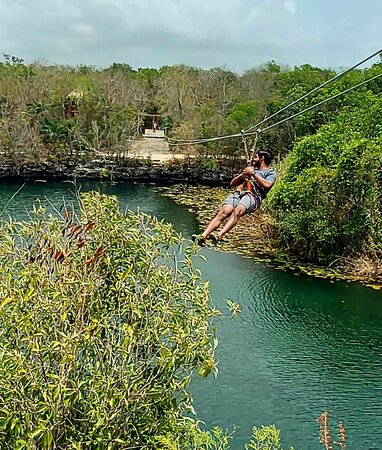 Mayan Jungle Expedition with private cenotes and mayan village: Zip lining was just ONE of the awesome activities we did on this tour!