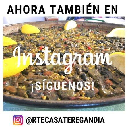 Llevabais mucho tiempo pidiéndonoslo, así que lo prometido es deuda: ¡#CasaTere ya está en #Instagram! Buscando como @rtecasateregandia, seguidnos y dadnos 𝗺𝘂𝗰𝗵𝗼 𝗹𝗼𝘃𝗲👍❤️ ☎𝟲𝟲𝟭 𝟬𝟮 𝟳𝟯 𝟬𝟬  #RestauranteCasaTere📌 Partida Rodona 4 #GraudeGandia