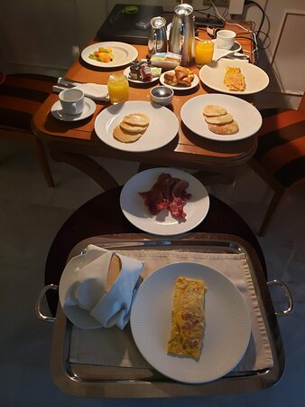 We ordered room service for breakfast before our early morning excursions and it was very delicious and filling.