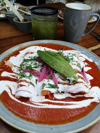 Enchiladas de lechón
