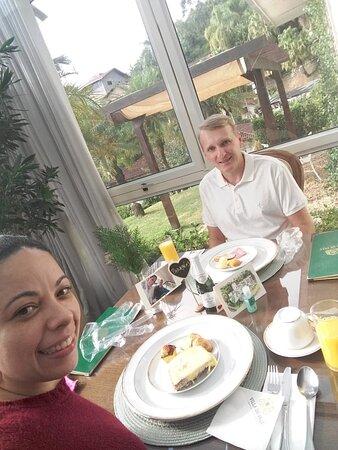 Amei a surpresa no café da manhã! Realmente não estava esperando esse mimo lindo! Eles realmente sabem surpreender seus hospedes! Amei!