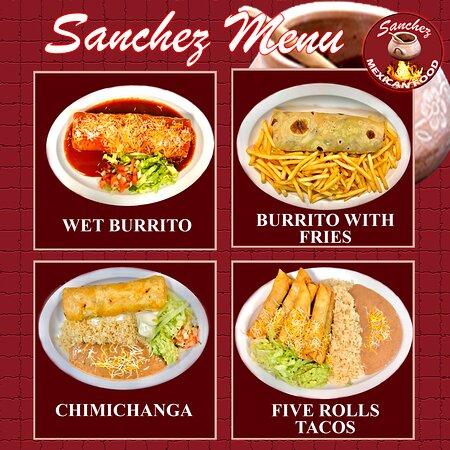 Sanchez Menu, multiple options