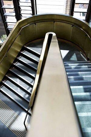 a by adina sydney lobby staircase details
