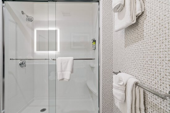 Stylish bathrooms complete with complimentary grooming essentials