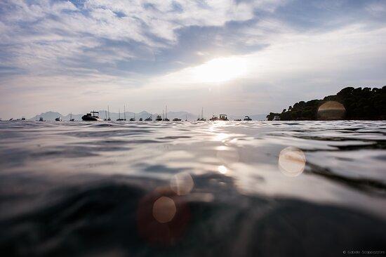 les iles de Lérins au coucher du soleil #locboat #location_bateau